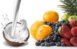 Beneficios de combinar leche de coco y fruta