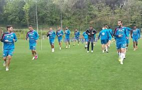 Último entrenamiento blanquiazul antes del partido