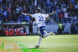 Nano celebra su gol al Albacete. (SAN ACOSTA)