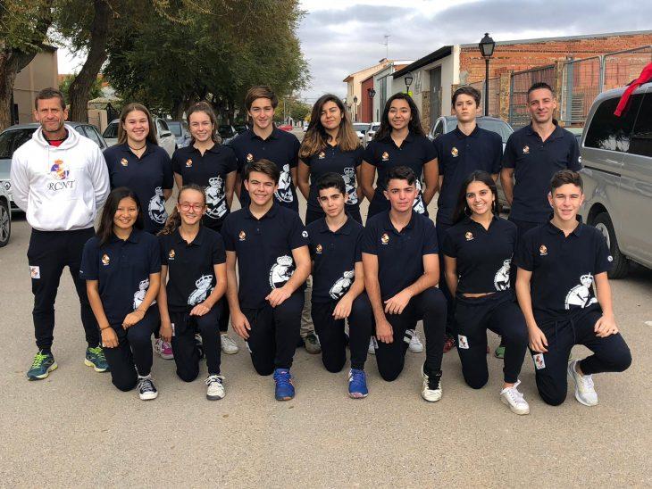 Tres bronces y dos cuartos puestos para el RCNT en Toledo