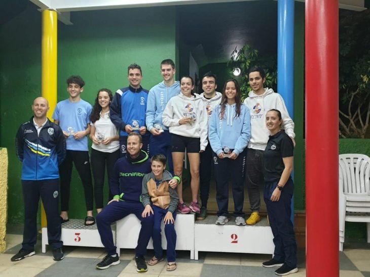 Seis medallas para el RCNT en el Campeonato de Canarias Sub-22 de Frontenis