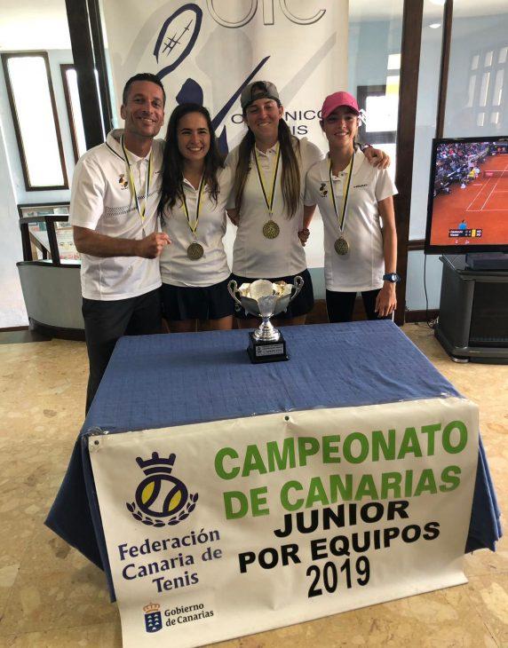 El Junior Femenino del RCNT, campeón de Canarias de tenis