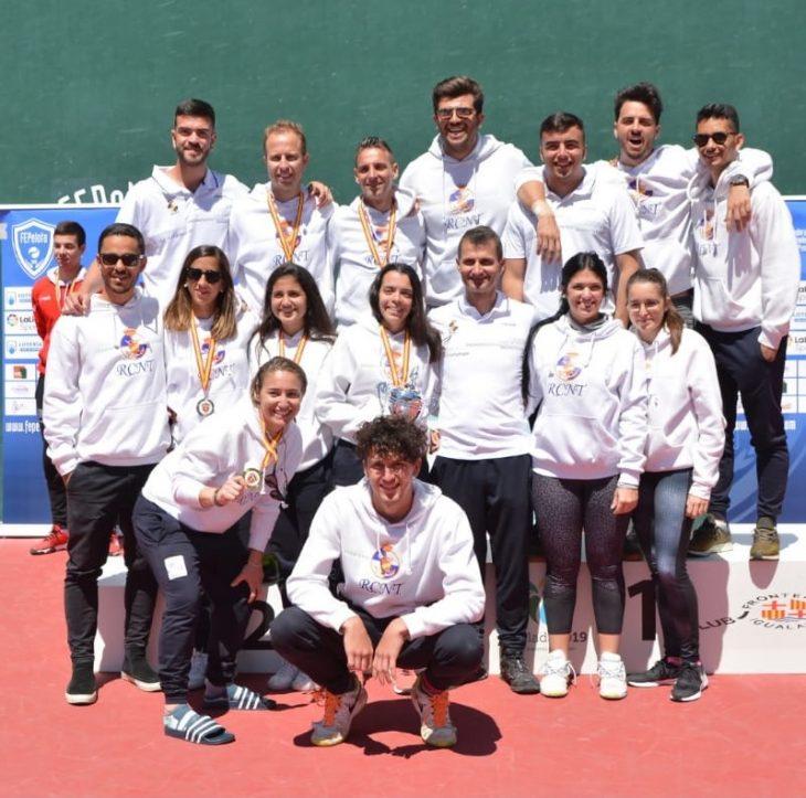 Éxito del RCNT en el Campeonato de España Absoluto de Frontenis Olímpico