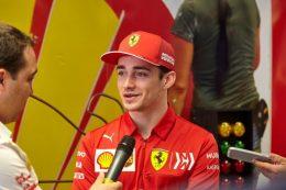 Leclerc toma el pulso al Gran Premio de España con Shell