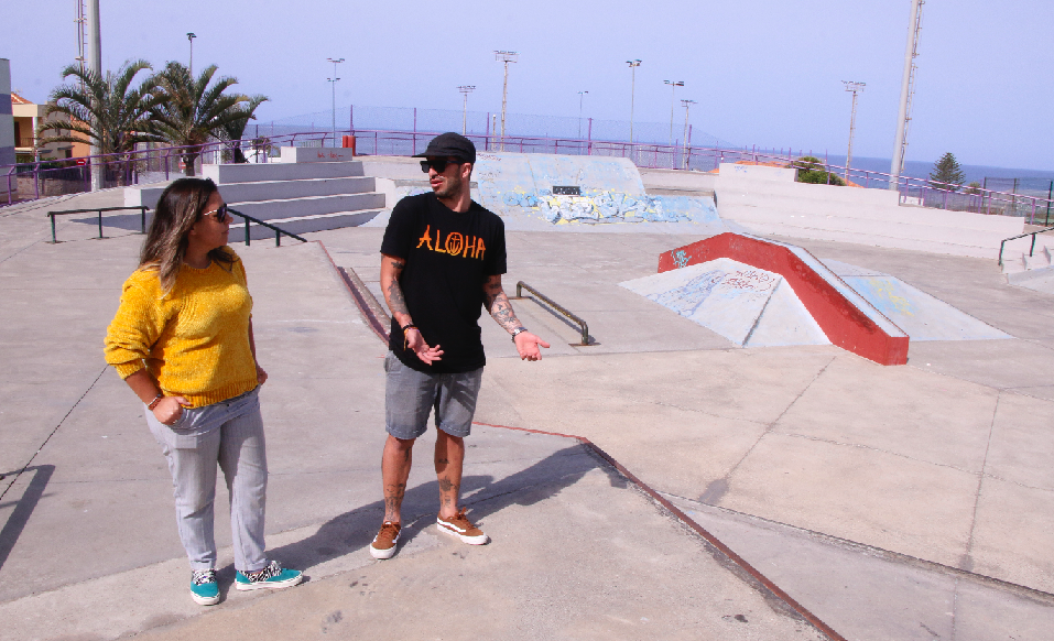 El Ayuntamiento acometerá obras en el skatepark de Punta del Hidalgo