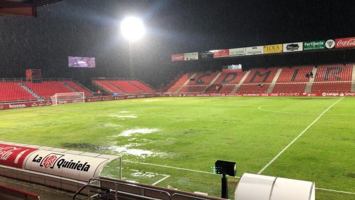 El Numancia se mete en playoffs; el Mirandés - Zaragoza, suspendido