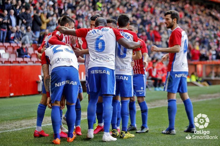 El Sporting, Zaragoza y Cádiz, se imponen por la mínima