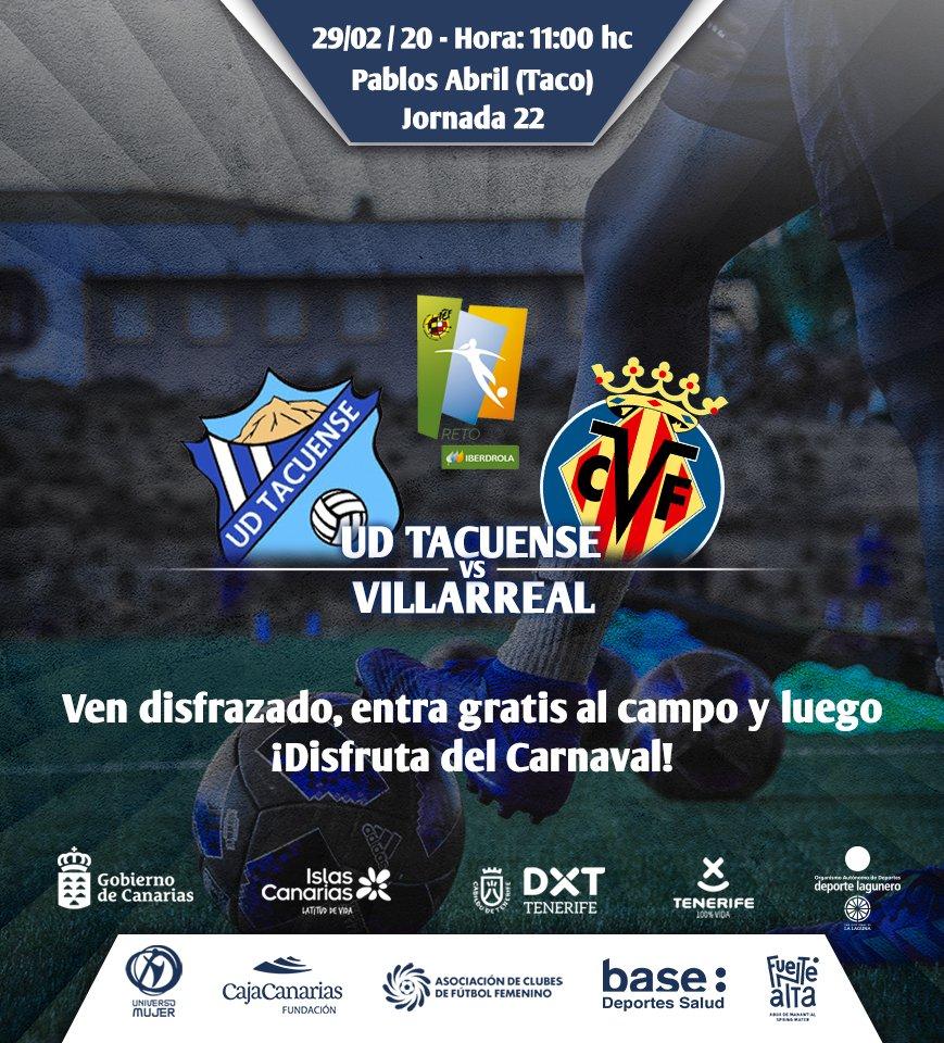 La UD Tacuense busca redimirse ante el Villarreal