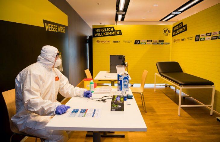 El estadio del Borussia se transforma en un hospital improvisado