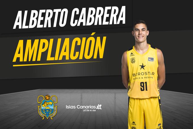 El Iberostar Tenerife amplía el contrato de Alberto Cabrera y estudia cederlo