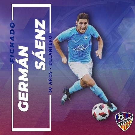 Germán Sáenz firma en Tercera